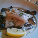 Hake and mussels in creamy sauce