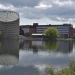 Planetarium cinema on water's edge 5 mins walk from  the hotel