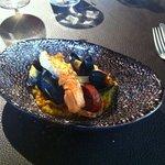 Lunch bijgerecht: paella met langoustine