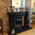 fireplace in Killarney foyer