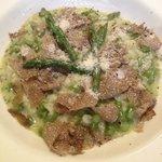 risoto de aspargos com trufas