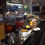 Breakfast buffet, many options