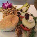 Amazing mediterrian fish sandwich special