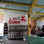 wall over salsa bar
