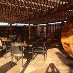 sauna and seating