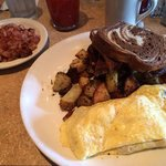 Omelet and hash