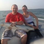 secong largest shark we caught other one was to big to get in boat