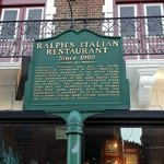 Front of Restaurant with Historical Sign