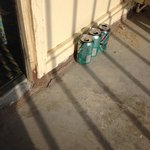 Soda cans on balcony, housekeeping never removed from last visitors.