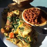 Omelet and beans