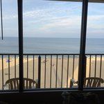Ocean view from inside room