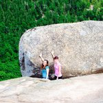 Cut of the same cloth, we hike to the same rock. Sisters at the beginning, the journey and the e