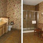 Master bathroom in two-bedroom condo