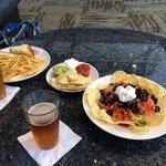 Food at the hotel bar