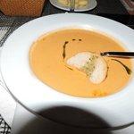 Lobster soup at La Casona (Dinner service)