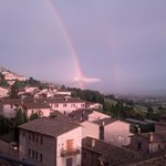 From the bar terrace, a double rainbow after a storm...