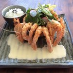 Ebi mayo (Fried prawn with special mayonnaise sauce)