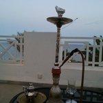 shisha on terrace