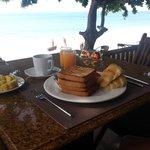 vistas desayunando