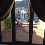 Big balcony, top floor at the emre hotel (annex) not the best view but is the perfect size and a