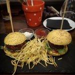 'half portion' of mini burgers