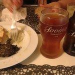 Entrada e cerveja Sovina