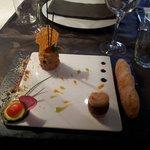 Foie gras au biscuit