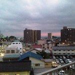景観です。奥に長浜城が見えます