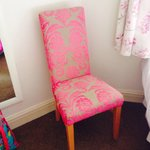 Cozy chair in the bedroom' Pity i left it there! Lol