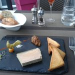 Entrées: foie gras