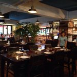 Airy and specious dining space with friendly staff