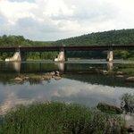 Roebling Bridge connecting PA/NY