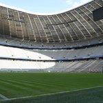 Allianz Arena seen through the player's tunner