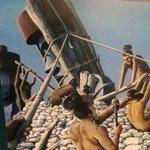 Representação da construção dos ahus.