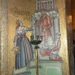 A mosaic depicting Queen Christina in Golden Hall