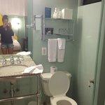 bathroom, rather small