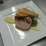 Homemade Pork and black pudding terrine