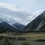 View of Mount Cook from the chalet