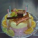 Gateau d'anniversaire d'une très jeune cliente...