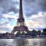 Eiffel Tower cloudy