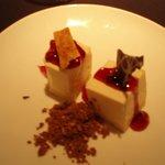 Eksempel på dessert i suite-restauranten