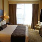 Bedroom in penthouse suite