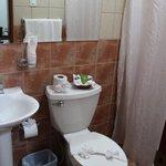 Clean but tiny bathroom