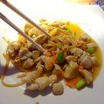 mango chicken & noodles at Ginger -Tamarijn