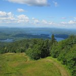 View from Sky Ride (chairlift) Mt. Sunapee State Park.