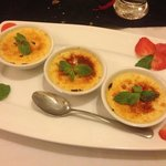 Creme brûlée was a great way to end the meal!