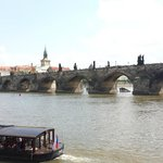 View of the Charles Bridge from the museum yard