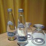 Free sparkling bottled water