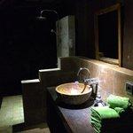 Salle de bain en extérieur