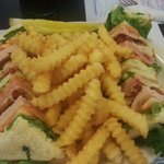 Club sandwich & fries is yummy